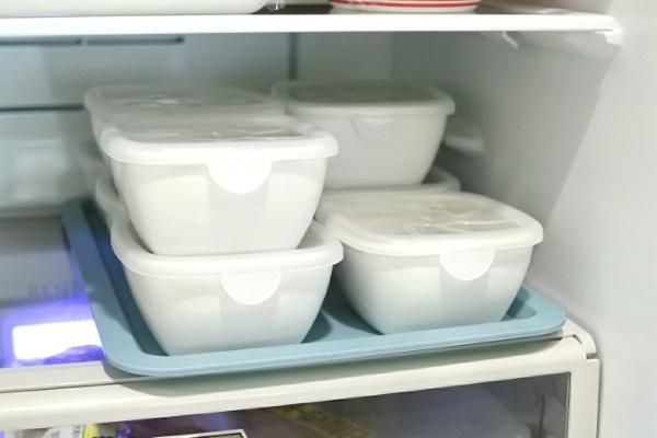 【冷蔵庫の中】白い陶器のレンジパックはすごく使える。。。!!【使える×3】